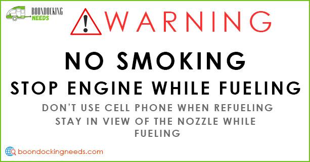 Gas Station Warnings