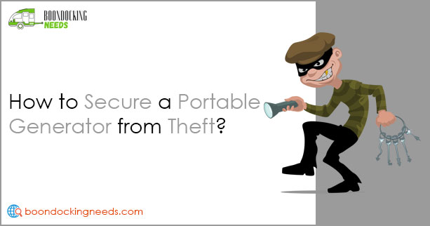how to secure a portable generator from theft