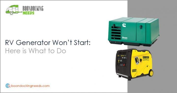RV Generator Won't Start