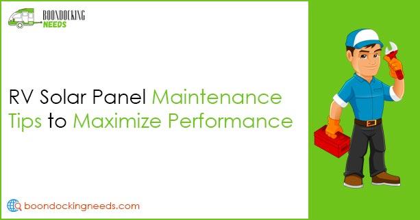 RV Solar Panel Maintenance Tips