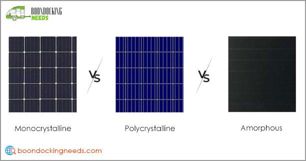 RV Solar Panel Cell Types