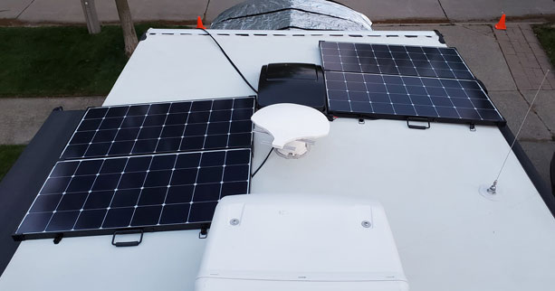 Solar Panels on the RV Roof
