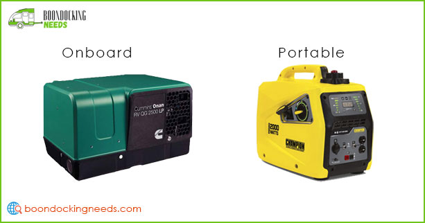 Types of RV Generator: Onboard and Portable